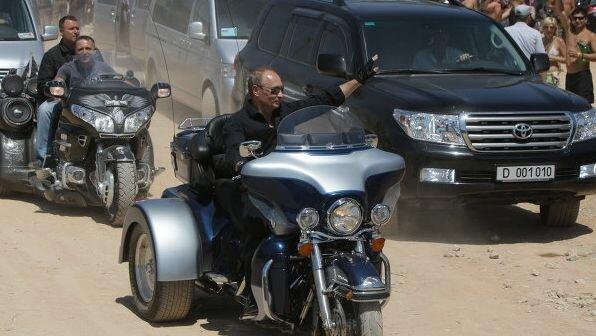One of that bikers is russian president vladimir putin